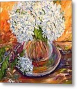 First Bouquet Metal Print by Barbara Pirkle