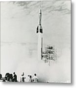 First Cape Canaveral Rocket Launch Metal Print