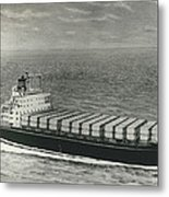 First Container Ship In Japan Metal Print