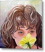 First Daffodil Metal Print