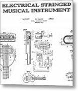 First Electric Guitar Patent Art  1937 Metal Print