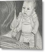 First Father's Day Metal Print by Laura Dallas