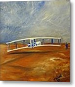 First Flight Aka Kittyhawk Dream Metal Print