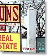 First Guns Then Land Metal Print