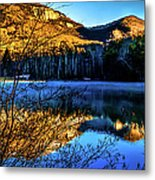 First Light At Pinnacle Lake Metal Print