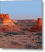 First Light At Teepees Metal Print