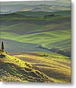First Light In Tuscany Metal Print