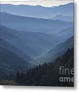 First Light On Clingman's Dome Metal Print