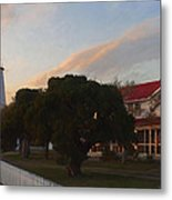 First Light On Occracoke Metal Print