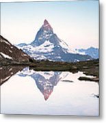 First Light On The Summit Of Matterhorn Metal Print