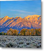 First Light On The Tetons Limited Edition Panorama Metal Print