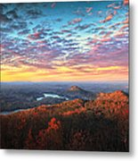 First Light Over The Ocoee River Metal Print