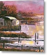 First Light Two Mile Channel Metal Print
