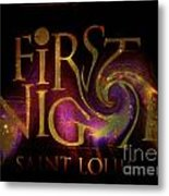 First Night St. Louis In Space Metal Print