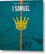 First Samuel Books Of The Bible Series Old Testament Minimal Poster Art Number 9 Metal Print by Design Turnpike