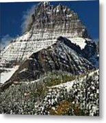 First Snow At Mount Wilbur  Metal Print