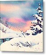 First Snow Metal Print