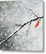 First Snowfall Metal Print