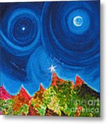 First Star Christmas Wish By Jrr Metal Print by First Star Art