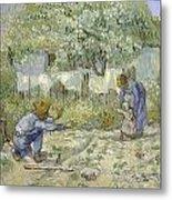 First Steps Van Gogh Metal Print