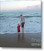 First Time At The Beach Metal Print