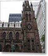 First Trinity Church Nyc Metal Print