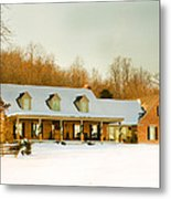 First Winter Snow Metal Print