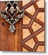 Firuz Aga Mosque Door 04 Metal Print