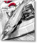 Fish And Chillies Metal Print