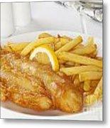 Fish And Chips Metal Print