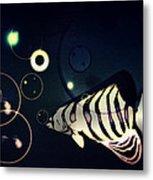 Fish Bubbles Metal Print