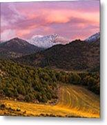 Fish Creek Pass Sunset Metal Print