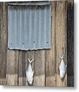 Fish Drying Outside Fisherman House Metal Print