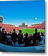 Fish-eye View Of The Jones Stadium Metal Print