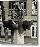 Fish Fountain Cologne Metal Print