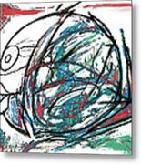 Fish Morden Art Drawing Painting Metal Print