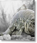 Fish Sculpture Metal Print