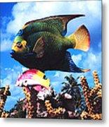 Fish Sculpture Metal Print