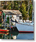 Fish Shack And Invictus Painted Metal Print