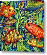 Fish Tales IIi Metal Print by Ann  Nicholson