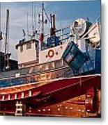 Fish Trawler On Land Metal Print