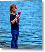 Fisher Girl Metal Print