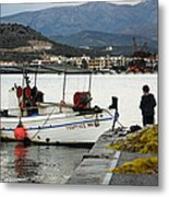 Fisherman And Son Metal Print