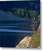 Fisherman On Lundy Lake Eastern Sierras California Metal Print