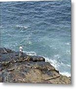 Fisherman On Remore Reef Metal Print