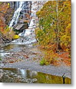 Fisherman One With Nature Metal Print
