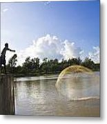 Fisherman Metal Print