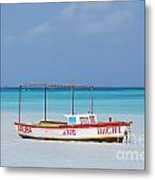 Fisherman's Beach In Aruba Metal Print