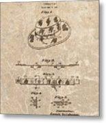 Fisherman's Hat Patent Metal Print