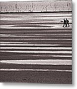 Fishermen On The Atlantic Coast Of France Metal Print